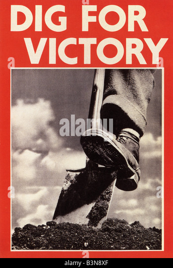 DIG FOR VICTORY  WW2 UK poster - Stock Image