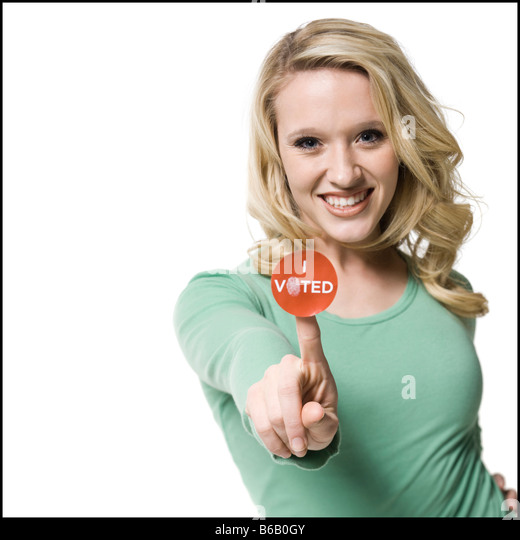 woman who voted - Stock Image
