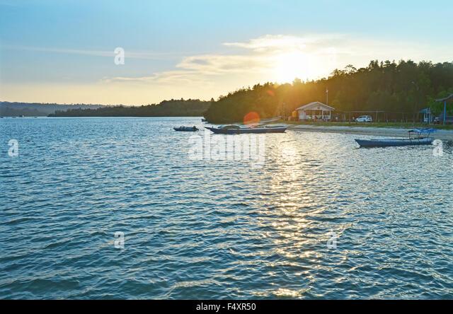 Sunset in Sulaiman Bay, Biduk-Biduk - Stock Image