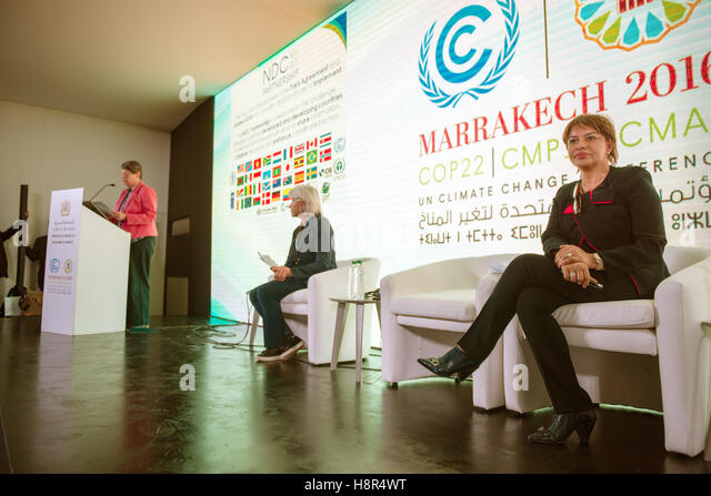 Marrakech, Morocco. 15th Nov, 2016. The German Federal Minister of the Environment Barbara Hendricks, the Moroccan - Stock Image
