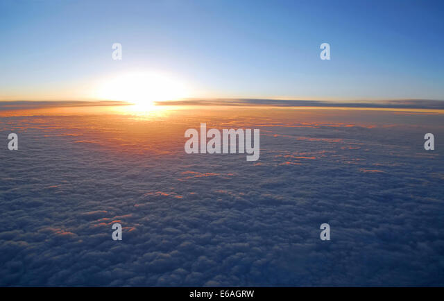 clouds,firmament,cloudscape - Stock Image