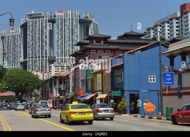 South Bridge Road, Chinatown, Singapur - Stock Image