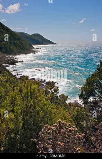 Austrailia, Victoria. The lookout at Mount Defiance on the Great Ocean Road, southwest of Melbourne. - Stock Image