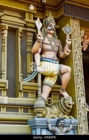 Hindu temple, Draupadi Amman Temple, Udappu, Sri Lanka - Stock Image