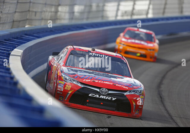 Fontana, California, USA. 25th Mar, 2017. March 25, 2017 - Fontana, California, USA: Erik Jones (20) battles for - Stock Image