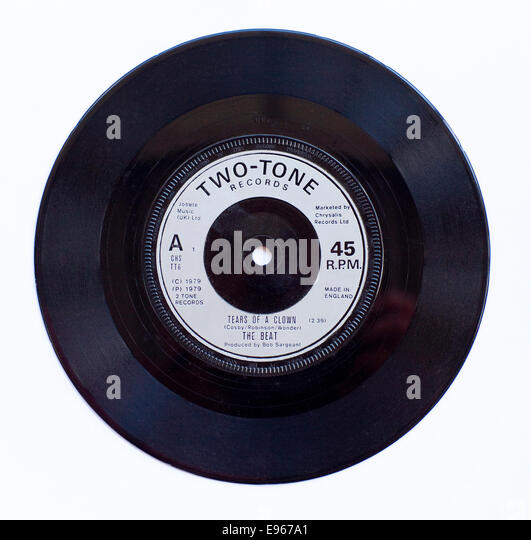 The Beat - Tears Of A Clown 1979 7' vinyl single on Two Tone Records - Stock Image