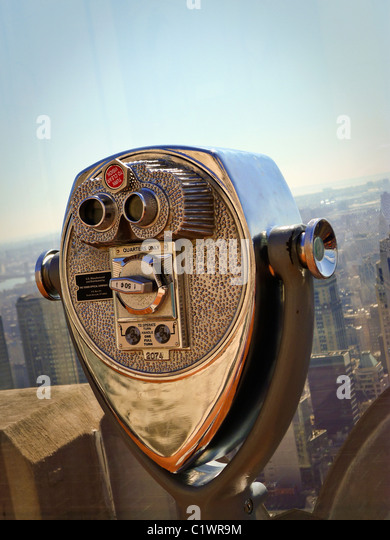 American Cities, New York City Sightseeing Viewer. - Stock-Bilder