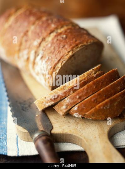 Sliced loaf of bread - Stock Image