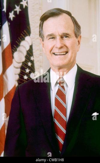 George Herbert Walker Bush, American President (1989-1993) - Stock Image