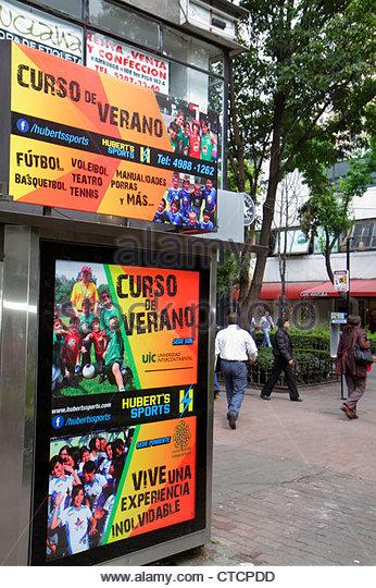 Mexico Mexico City DF D.F. Ciudad de México Federal District Distrito Federal Zona Rosa Calle Genova - Stock Image