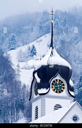 St Heinrich Church, Beckenried, Switzerland 1 - Stock Image