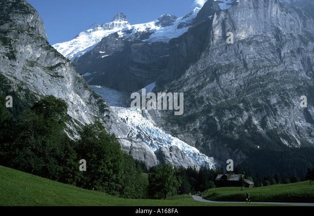 Oberer Grindelwald glacier, Grindelwald, Bernese Oberland, Switzerland - Stock Image