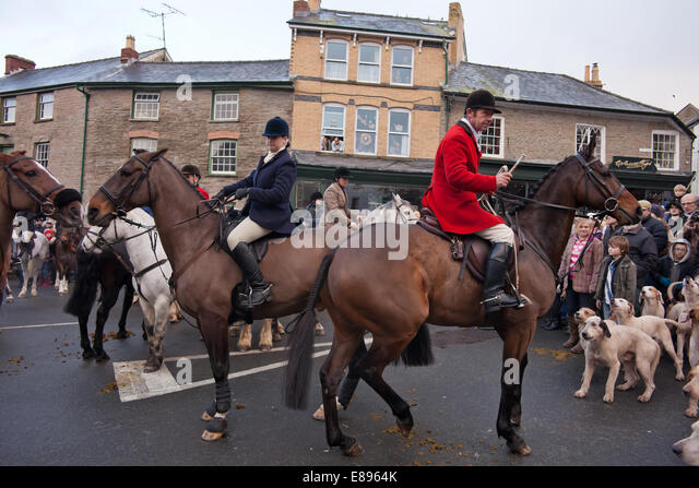 Hunt master of hounds and another rider - Stock Image