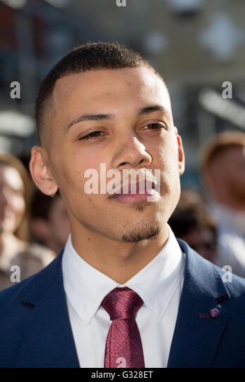 Jordan Bolger who plays Isaiah in Peaky Blinders at the premiere of Season Three in Birmingham - Stock Image