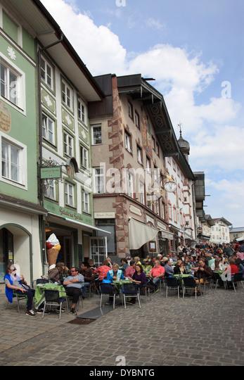 Bad Toelz, famous Marktstrasse, Upper Bavaria, Germany. Photo by Willy Matheisl - Stock Image