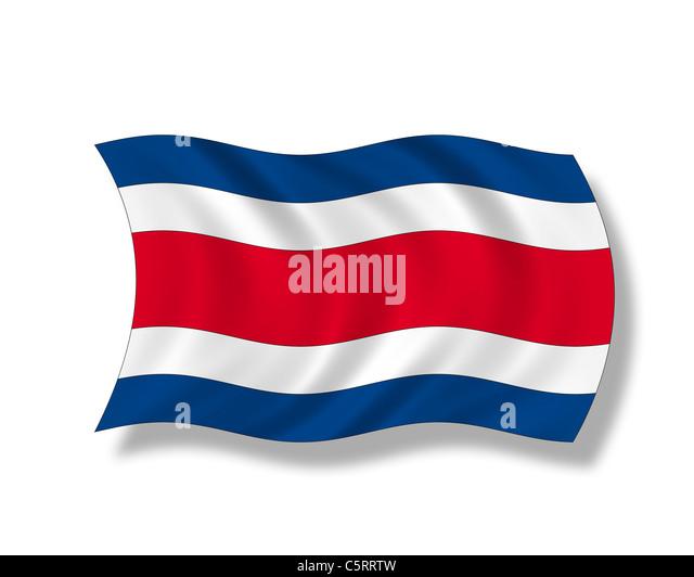 Illustration, Flag of Costa Rica - Stock Image