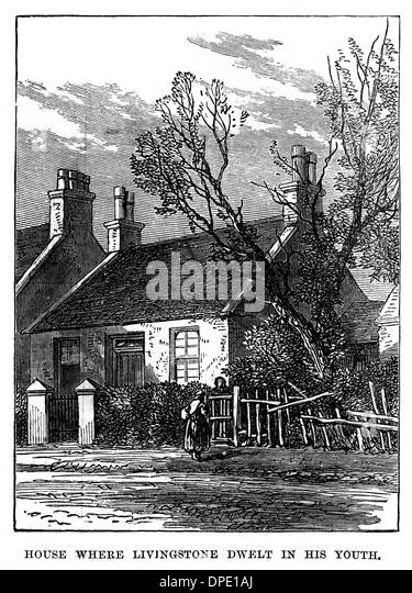 LIVINGSTONE EARLY HOME - Stock Image