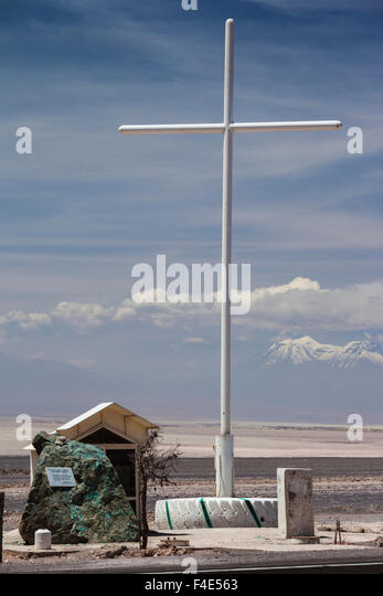Chile, Calama, monument to the victims of political violence during the Pinochet regime. - Stock Image