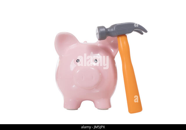Egg hammer stock photos egg hammer stock images alamy for How to make a piggy bank you can t open