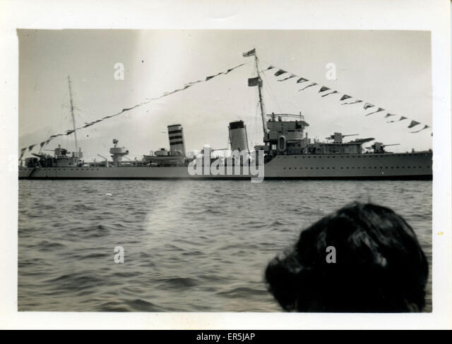 Destroyer HMS Codrington (D65), .  1940s - Stock Image