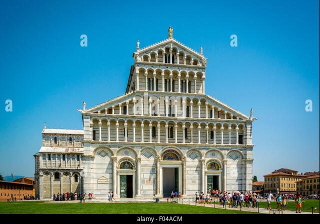 Pisa Cathedral or Cattedrale di Pisa, Piazza dei Miracoli, Pisa, Tuscany, Italy. - Stock Image
