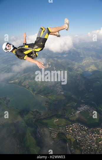 Taking it easy in the air - Stock Image