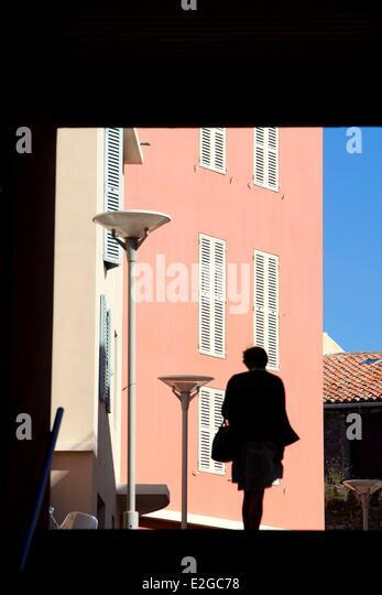 France Var Frejus place Clemenceau - Stock Image