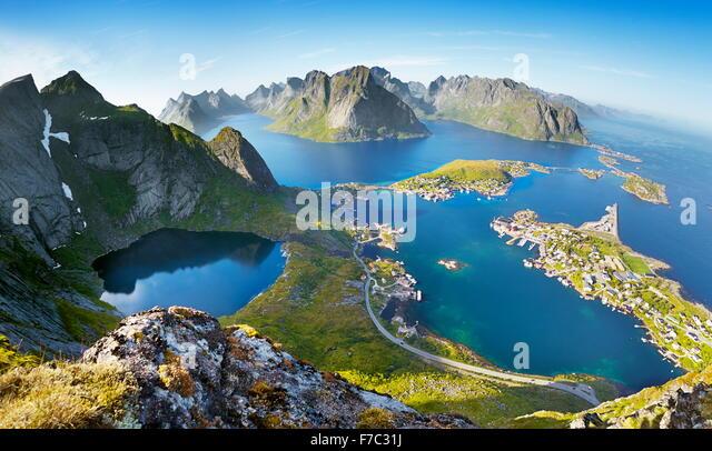 Lofoten Islands, Reine, Moskenes, Norway - Stock-Bilder
