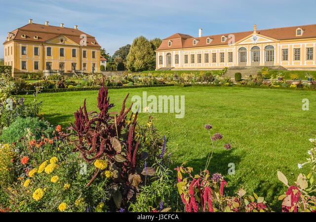 Baroque Garden Grosssedlitz near Dresden, Saxony, Germany   Barockgarten Großsedlitz nahe Dresden, Heidenau, - Stock-Bilder
