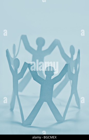 paper teamwork concept - Stock Image
