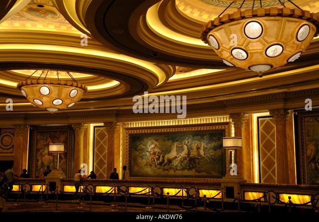 Las Vegas Nevada usa united states caesar s palace main lobby - Stock Image