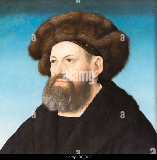 16th century  -  Sebastien Andorfer, 1517 - Hans Maler Oil on wood - Stock Image