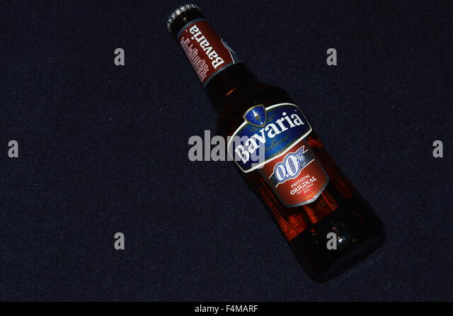 Bottle of non alcoholic beer - Stock Image