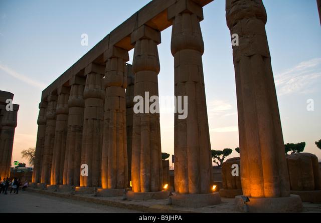 Luxor Temple Egypt twilight - Stock Image
