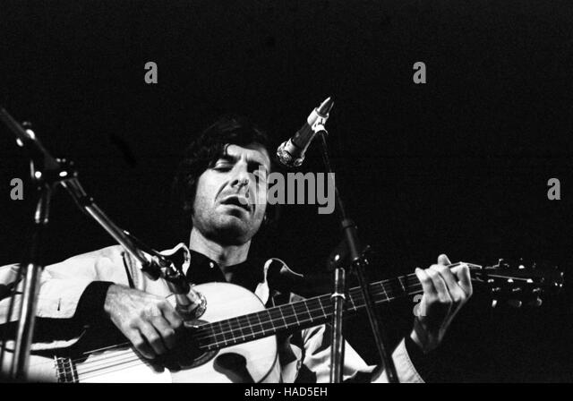 Leonard Cohen -  1970  -  France / Aix-en-Provence  -  Concert of Leonard Cohen, Festival Aix en Provence, 1970 - Stock Image