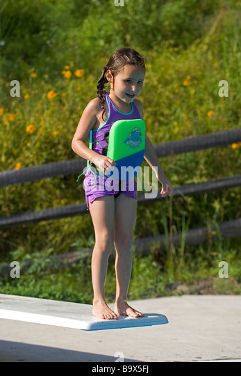 Girl Diving Board Stock Photos Girl Diving Board Stock Images Alamy
