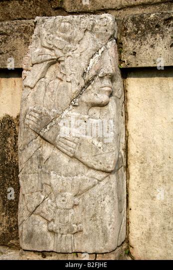 Maya stone relief stock photos