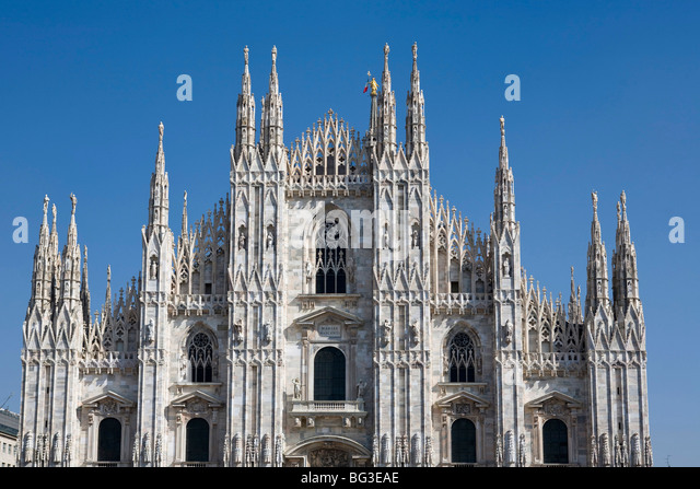 The Cathedral (Il Duomo), Milan, Lombardy, Italy, Europe - Stock Image