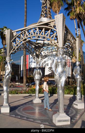 Walk of Fame Gazebo, Hollywood Boulevard, Hollywood, California, USA - Stock Image