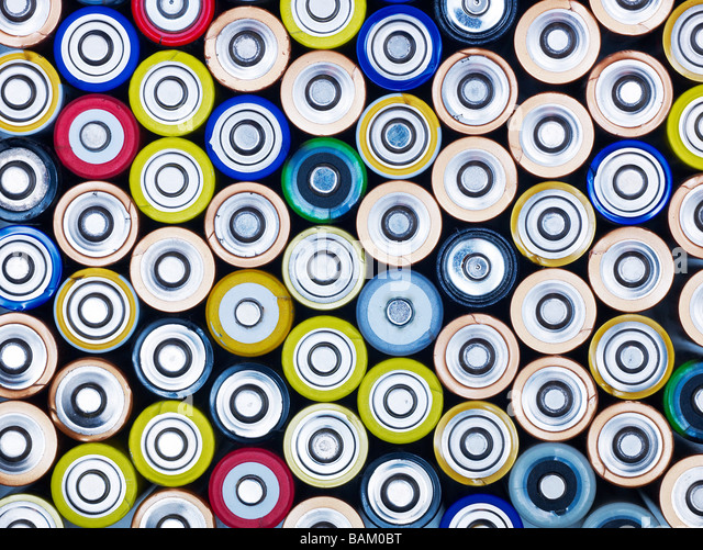Lots of batteries - Stock Image