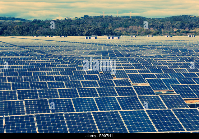 Solar energy centre near Guadarranque San Roque Cadiz Province Spain - Stock Image
