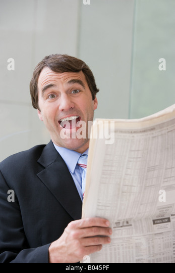 Happy businessman - Stock Image