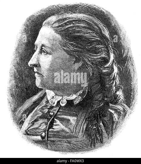Elise Last, 1827-1888, Elise Last, a German writer, - Stock-Bilder
