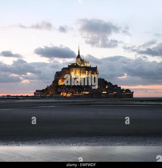 Le Mont Saint Michel, Normandy, France - Stock Image