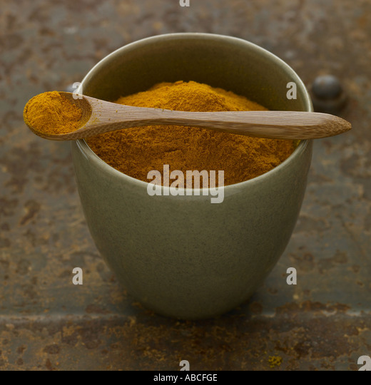 Turmeric - one of a series of similar spice images - Stock Image