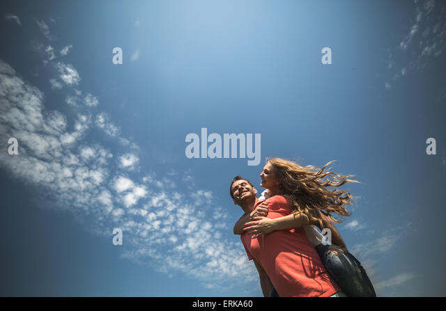 Couple hugging - Stock Image