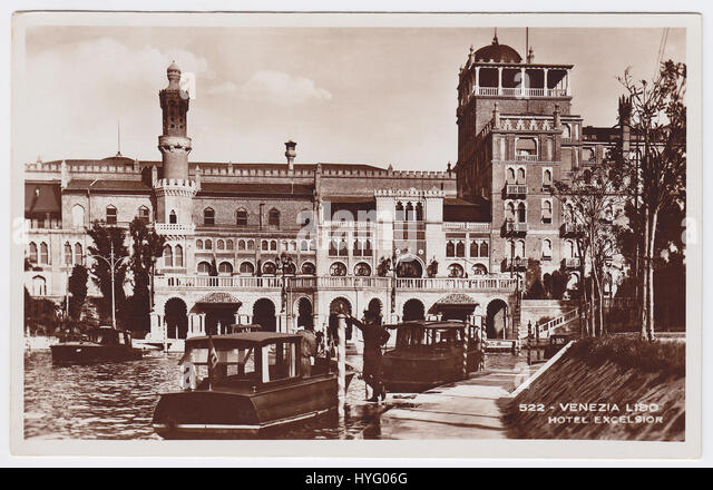 Hotel Excelsior, Venice-Lido, Italy - Stock Image