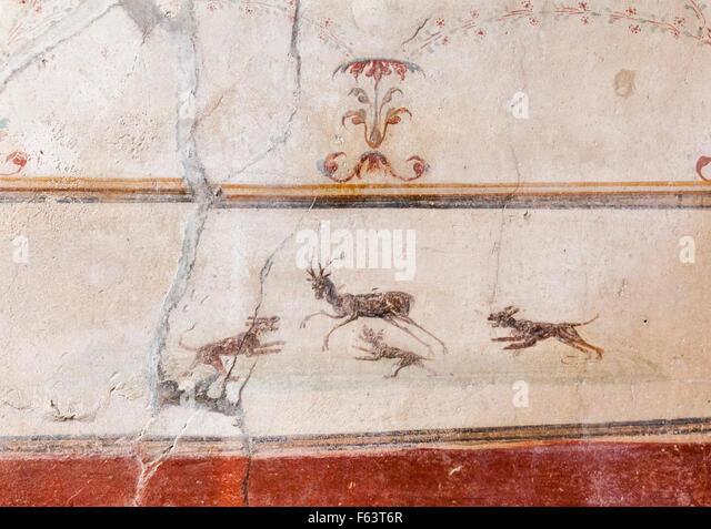 fresco pompeii house stock photos fresco pompeii house. Black Bedroom Furniture Sets. Home Design Ideas