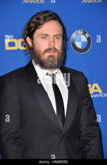 LOS ANGELES, CA. February 4, 2017: Actress Casey Affleck at the 69th Annual Directors Guild of America Awards (DGA - Stock Image