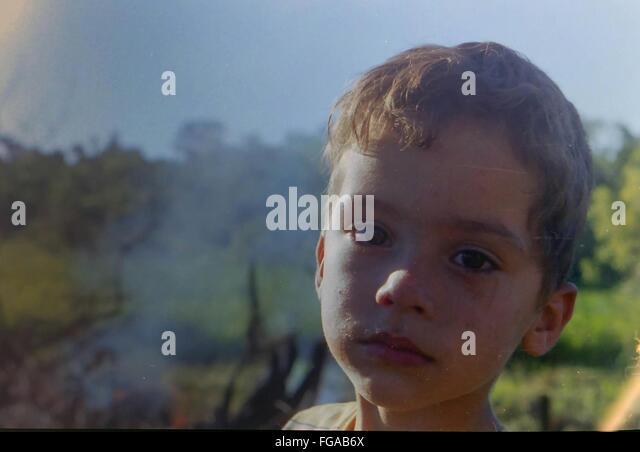 Portrait Of Boy - Stock Image